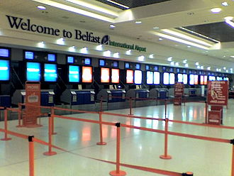 Belfast International Airport - Check-in area