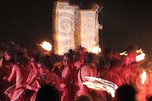 Beltane fire festival Beastie Drummers, 2006