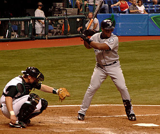 Adrián Beltré - At bat while playing for the Seattle Mariners
