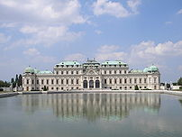 Belvedere palace in Vienna. Constructed in the...