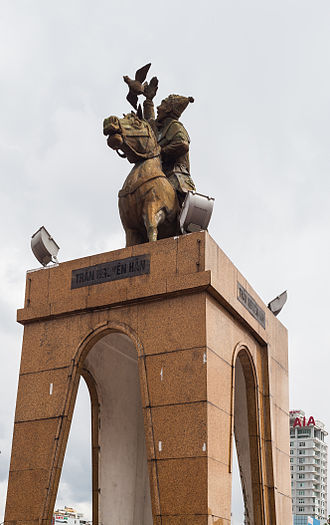 Bến Thành Market - Monument at the main entrance.