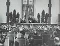 Benelux conferentie te Den Haag. Toespraak van Drees. Vlnr. Larock, Bech, Drees,, Bestanddeelnr 121-0407.jpg