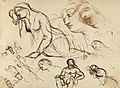 Benjamin Robert Haydon - Figure Studies of the Virgin Mary - B1977.14.2602 - Yale Center for British Art.jpg