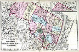 Passaic County, New Jersey - Bergen and Passaic counties, 1872