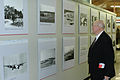 Berlin Airlift pilot browses museum.JPG