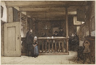 Betaaldag: De schepenkamer in het Rechthuis te Nieuw-Loosdrecht, gestoffeerd met zeventiende-eeuwse figuren