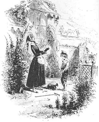 David Copperfield (character) - David introduces himself to his aunt (Drawing by Hablot Knight Browne)