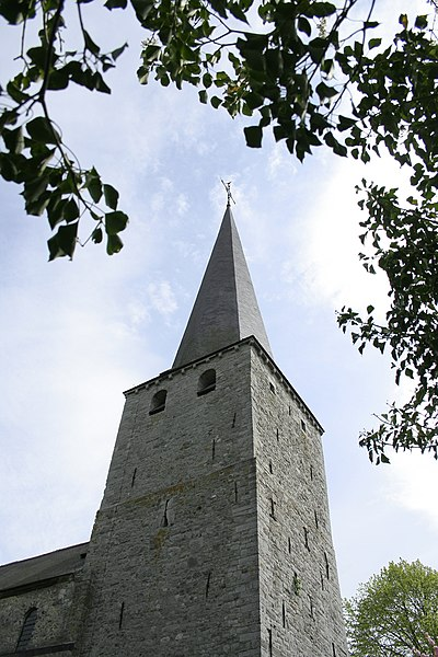 Biesme  (Belgium), bell tower of the St.Martin church (XIVth century).