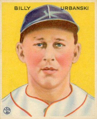 Billy Urbanski - Billy Urbanski 1933 Goudey baseball card.