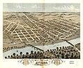 Bird's eye view of the city of Attica, Fountain County, Indiana 1869. LOC 73693378.jpg