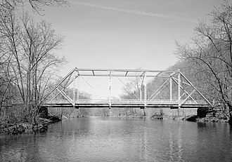 National Register of Historic Places listings in Huntingdon County, Pennsylvania - Image: Birmingham Bridge, Juniata River