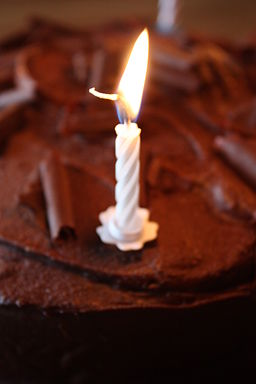 Birthday candle, Downpatrick, July 2010