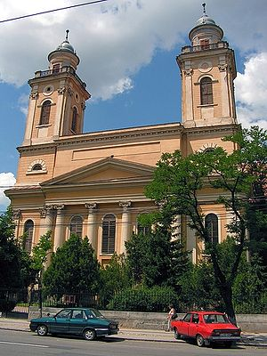 Reformed Church in Romania - Image: Biserica Reformata cu 2 turnuri din Cluj