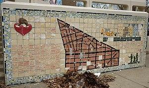Black Bottom, Philadelphia - Mosaic depicting Black Bottom at University City High School