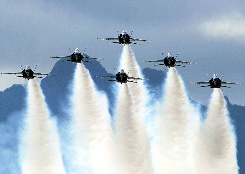 File:Blue Angels on Delta Formation.jpg