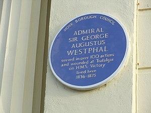 George Augustus Westphal - Blue plaque for George Augustus Westphal in Hove.