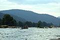 Boat at Hogenakkal Falls a long view.jpg