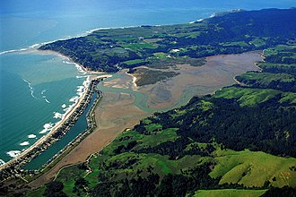 Bolinas Lagoon - Aerial view of the lagoon