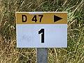 Borne Km 1 Route D47 Vonnas 3.jpg