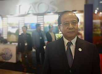 Politics of Laos - Bosengkham Vongdara, Minister of Information, Culture and Tourism of Laos at the ASEAN Tourism Forum 2019 in Ha Long Bay, Viet Nam; organised by TTG Events, Singapore