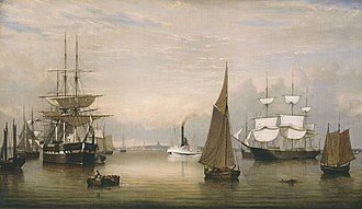 Amon Carter Museum of American Art - Fitz Henry Lane (1804–1865), Boston Harbor, 1856