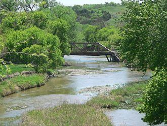 Ponca Creek (Missouri River tributary) - Image: Boyd County Ponca Creek bridge T33N R9W S18 19 (2)