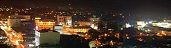 Batu Pahat towns view at night.