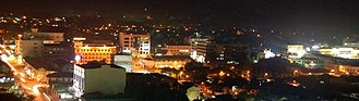 Batu Pahat (town) - Batu Pahat towns view at night.