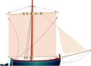 Bracera - A single masted square sail bracera