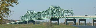 Mark Morris Memorial Bridge - Image: Bridge Mississippi River Illinois Iowa Route 136 Fulton Illinois