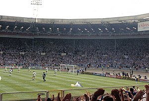 Bristol Rovers F.C. - Bristol Rovers playing against Tranmere Rovers at Wembley in 1990