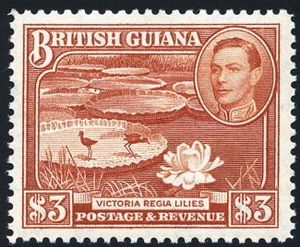 British Guiana - Stamp with portrait of King George VI, 1938