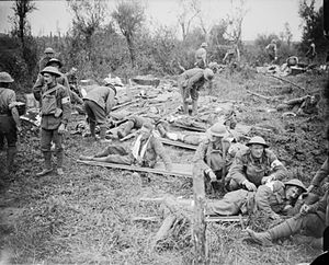 5th Battalion, South Lancashire Regiment - British wounded at the Battle of Pilckem Ridge