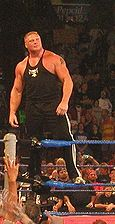 Brock Lesnar at the WWE show in 2003