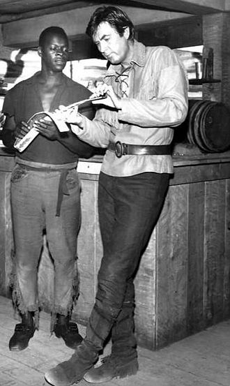"Brock Peters - Peters with Fess Parker on Daniel Boone in the ""Pompey"" episode, 1964."