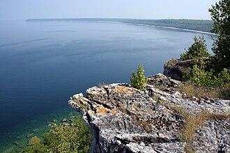 Bruce Peninsula - Over-look towards the Niagara Escarpment at Dyer's Bay, Bruce Peninsula