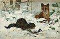 Bruno Liljefors - Räv som överraskar en katt 1881.jpg