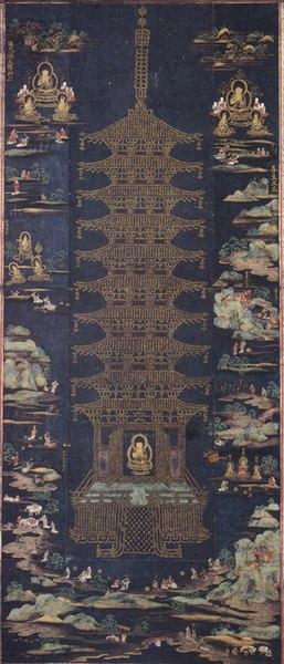 File:Buddhist Paradise with Golden Pagoda.jpg