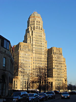 Buffalo City Hall (Rathaus). Das Gebäude ist seit Januar 1999 im National Register of Historic Places eingetragen.[1]
