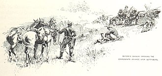Battle of Gettysburg, First Day - Buford's cavalry resists the Confederate advance