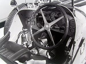 Preselector gearbox - Bugatti Type 51 cockpit, with Wilson preselector gearbox