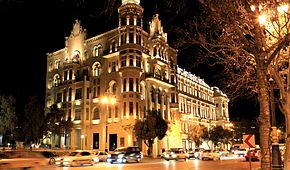 Building at Neftchiler Avenue, Baku, 2010.jpg
