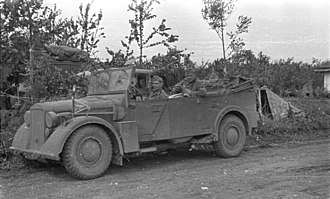 Einheits-PKW der Wehrmacht - Medium off-road passenger car, later version without the spare wheel