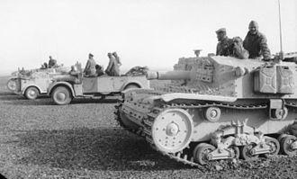 Battle of Bir Hakeim - Image: Bundesarchiv Bild 101I 784 0208 17A, Nordafrika, italienische Panzer.2