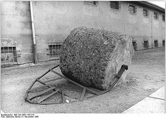 Ravensbrück concentration camp - Road roller