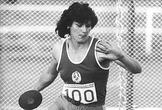 Martina Hellmann East German discus thrower
