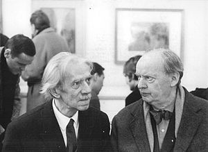 Lünen - Berlin 1966: Hans Scharoun (right), Otto Nagel (left)