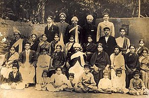 Bunt (community) - The Kodialguttu joint family of Bunts. Most members are seen in traditional attire though some men have taken to western attire (circa 1900)
