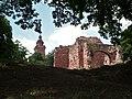Burg Kyffhausen (Unterburg), Blick zum Kyffhäuserdenkmal.jpg