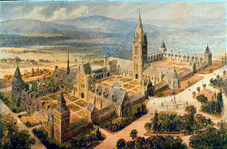 Trinity College (Connecticut) - William Burges's original plan for the campus of Trinity College